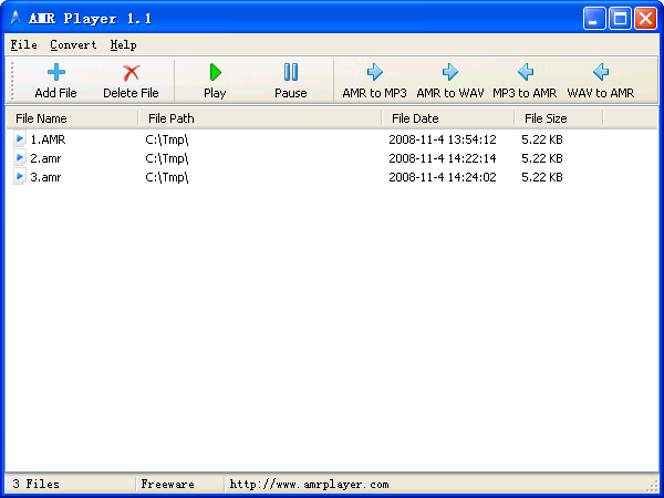 Amr Player Free Amr Audio Player And Amr To Mp3 Or Mp3 To Amr Converter